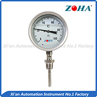 SS Shock resistance bi-metal thermometer---Bottom Mounting
