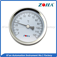 Pipe mounting Bi-metal thermometer