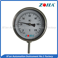 Bi-metal thermometer--Bottom mounting